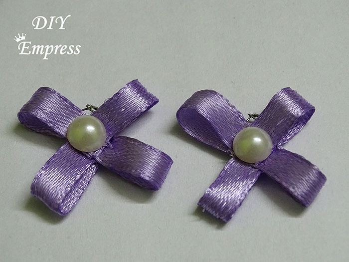 How to Make DIY Satin Ribbon Earrings with Lustrous Pearl Beads