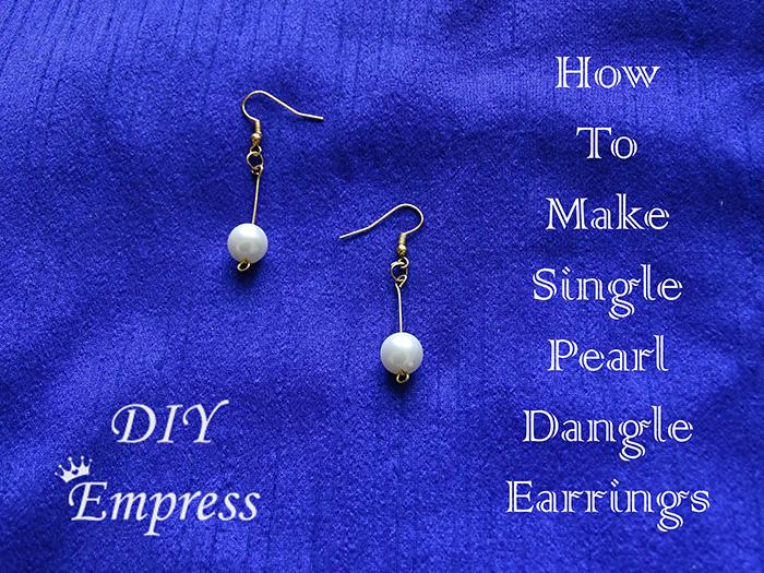 How to make single pearl dangle earrings