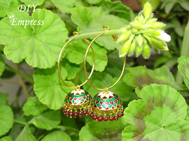 how to refashion your old jhumka earrings