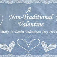 A Non-Traditional Valentine – Make 14 Denim Valentine's Day DIY's